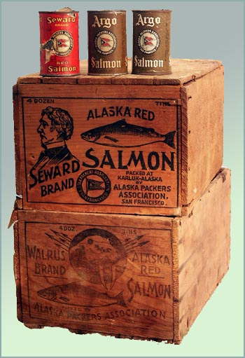 Alaska PackersAssociaion Canned Salmon and Cases