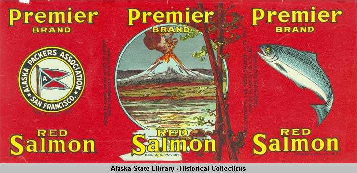 Alaska Packers Association Premier Brand Cannery Label