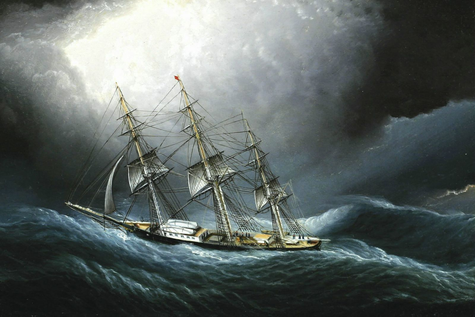 Clipper Ship Rounds the Horn