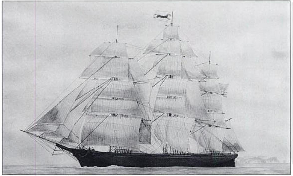 Reporter Clipper Ship - 1853