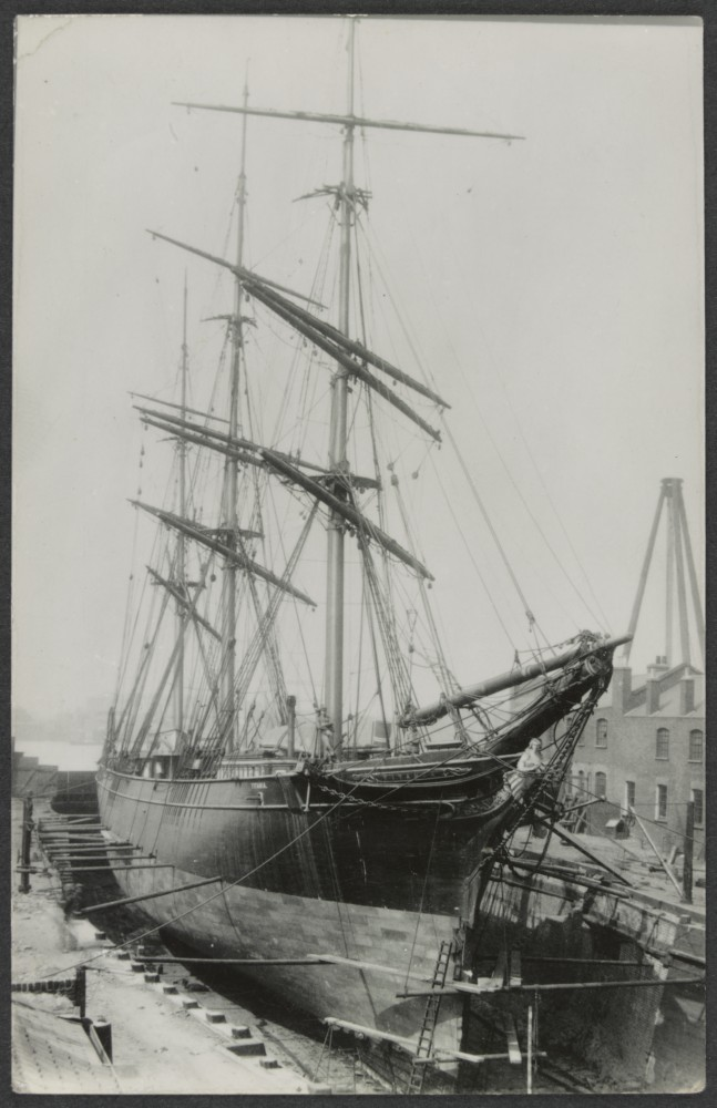 Titania at Mort's Dock For Repairs 1894